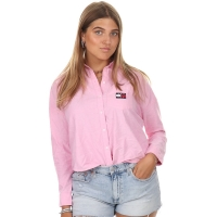 Tommy Jeans Tommy Badge Blouse Pink Daisy