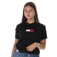 Tommy Jeans Tjw Tommy Flag Tee Black