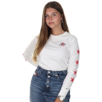 Tommy Jeans Tjw Star Sleeve Long White