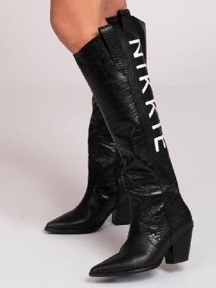 Djana Western Boots Black