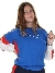 FILA Women Laisa Crew Sweat Skydiver-bright White-poppy Red