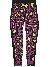 FILA Teens Girls Zora Aop Tights Purple Cactus Flower Allover-black