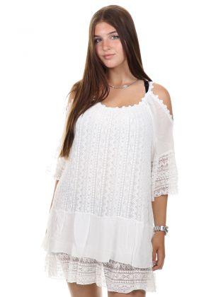 Dalila Dress White