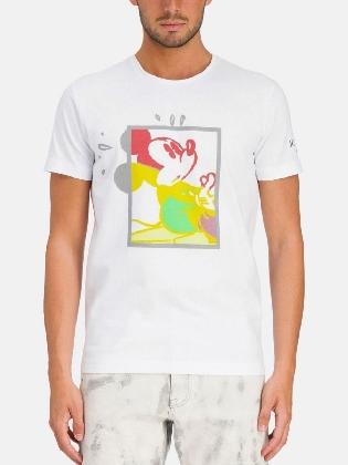 T-shirt Mickey White