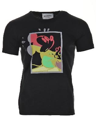 T-shirt Mickey Black
