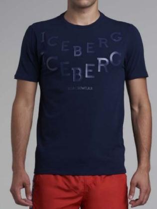 T-shirt V Aop Navy