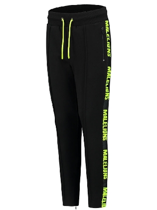 Pants Junior S Black - Neon Yellow