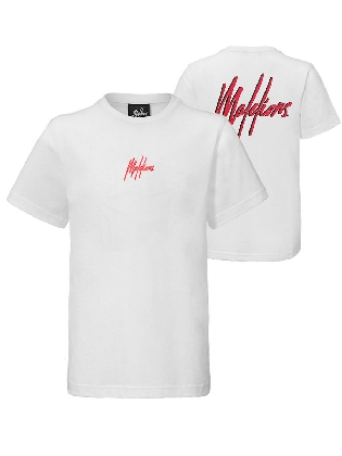 Malelions Junior Double Signature White - Red