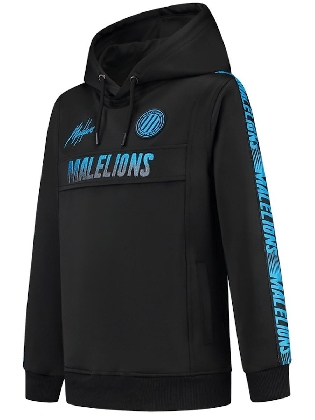 Malelions Junior Warming Up Hoodie Black - Blue