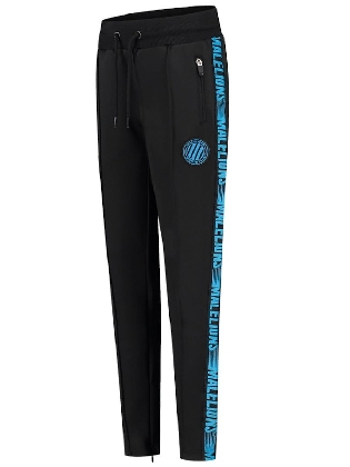 Malelions Junior Warming Up Trackpants Black - Blue