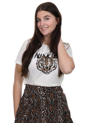 Nikkie Tiger T-shirt Star White