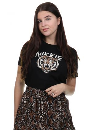 Nikkie Tiger T-shirt Black
