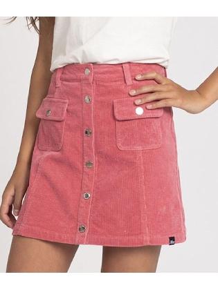 Florijne Corduroy Skirt Vintage Pink