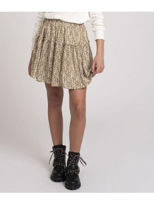 Tory Chain Skirt Vintage White