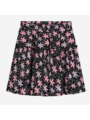 Tessa Big Flower Skirt Black