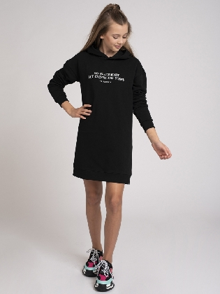 No Sweetheart Sweatdress Black