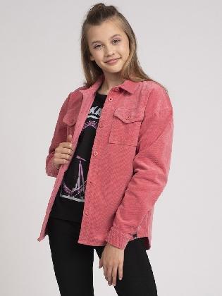 Flori Corduroy Shirt Vintage Pink