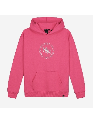 Daisy Hoodie Bright Pink
