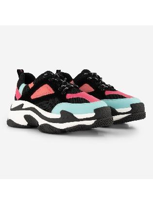 Chunky Sneaker Black/pink
