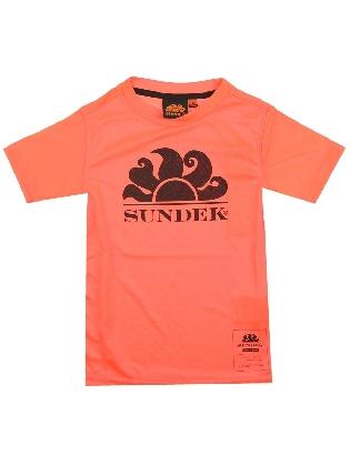 Mini Sundel Logo Dry Fit-t-shirt Ss Fluo Orange