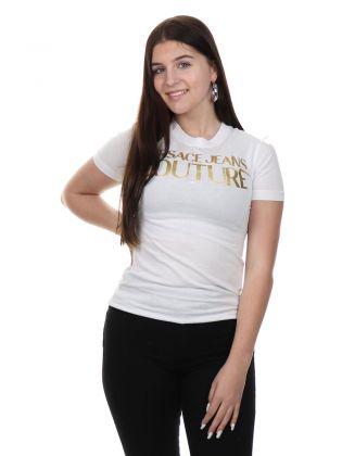 T-shirt Slim Logo Foil White