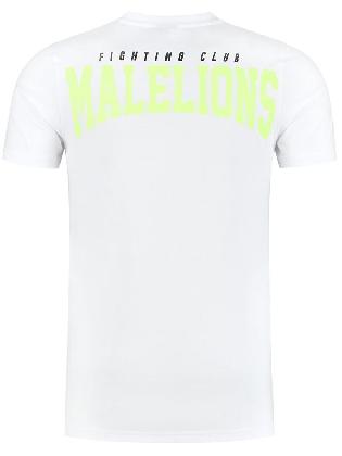 Malelions Men Boxer T-shirt White/neon Yellow