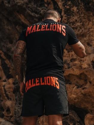 Malelions Men Boxer T-shirt Black/peach