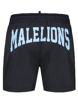 Malelions Men Boxer Swimshort Navy/light Blue