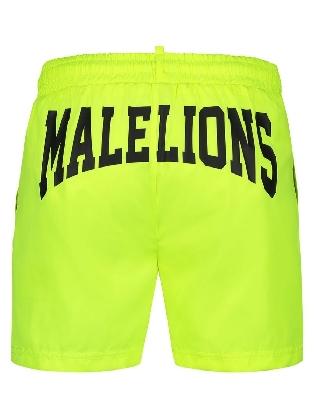 Malelions Men Boxer Swimshort Neon Yellow