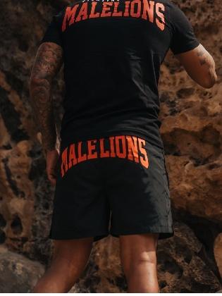 Malelions Men Boxer Swimshort Black/peach
