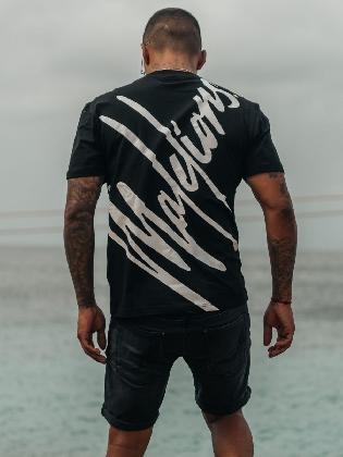 Malelions Men Firma T-shirt Black/white