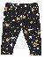 Moschino Leggings Black Toy Stars