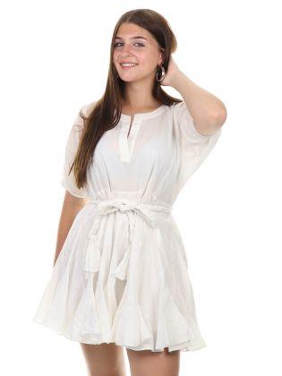 Ruya Dress Star White
