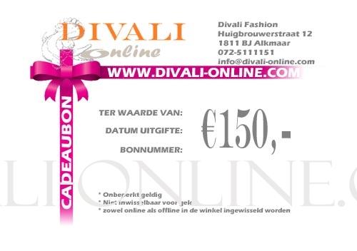 Cadeau bon 150 euro