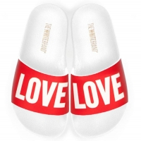 THE WHITEBRAND Slippers LOVE White/Red