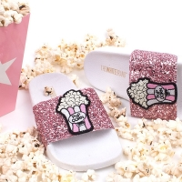 THE WHITEBRAND Slipper Glitter Pink Popcorn