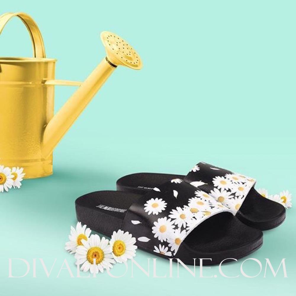 Slippers Margarette Black-White