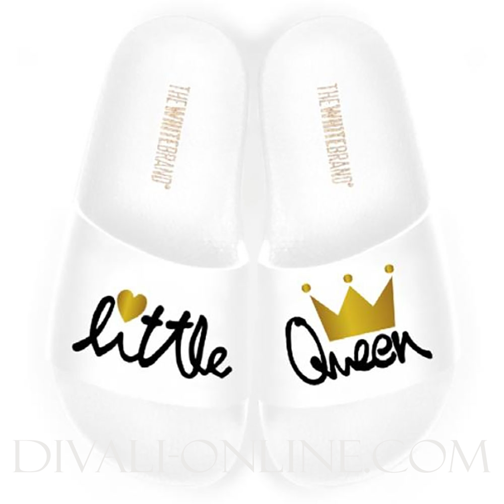 Slippers Little Queen White