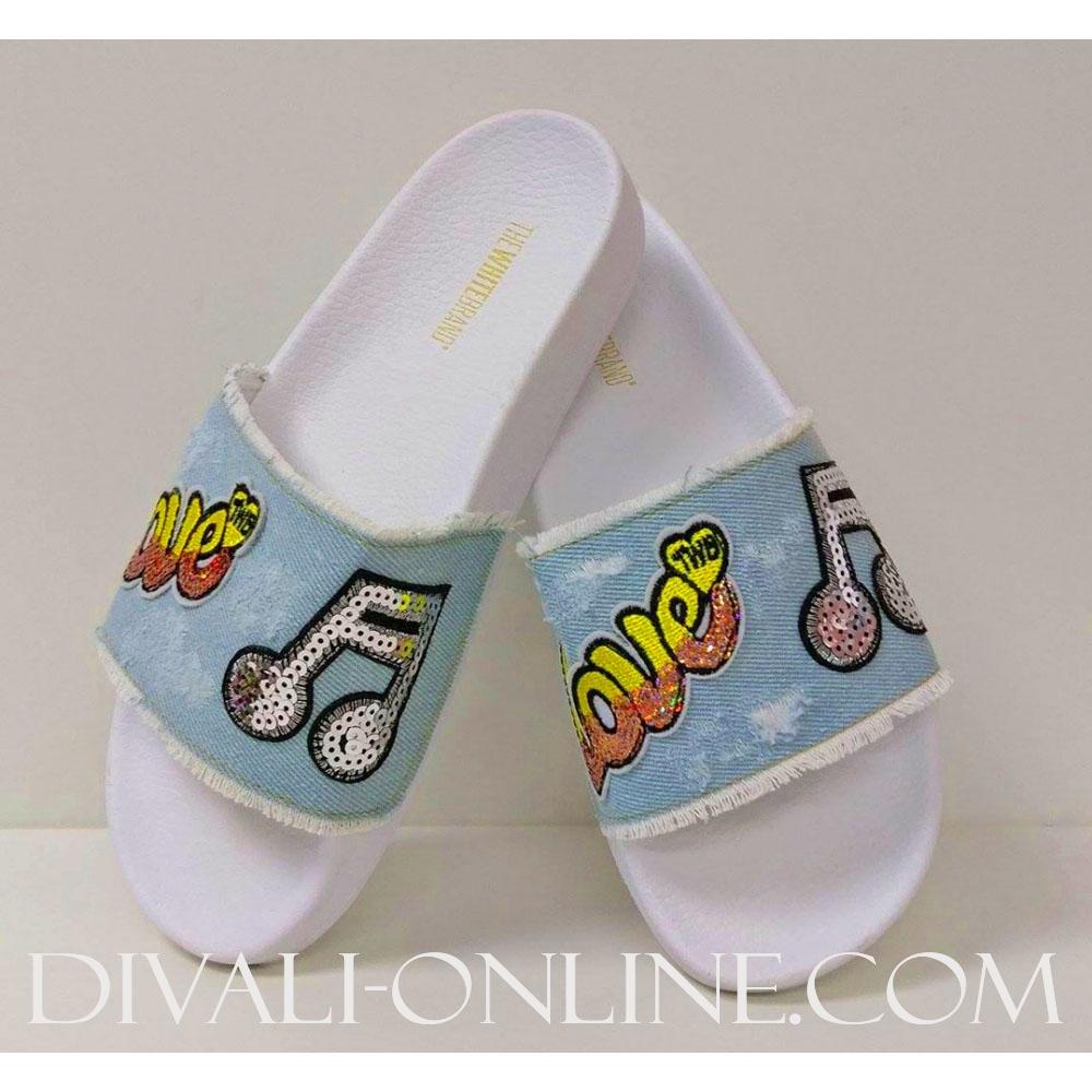 Slippers Love Denim