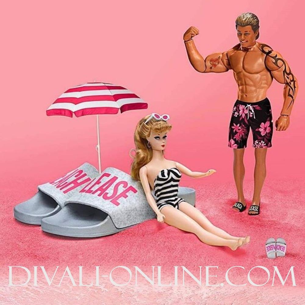 Slippers Beach Pink Felt