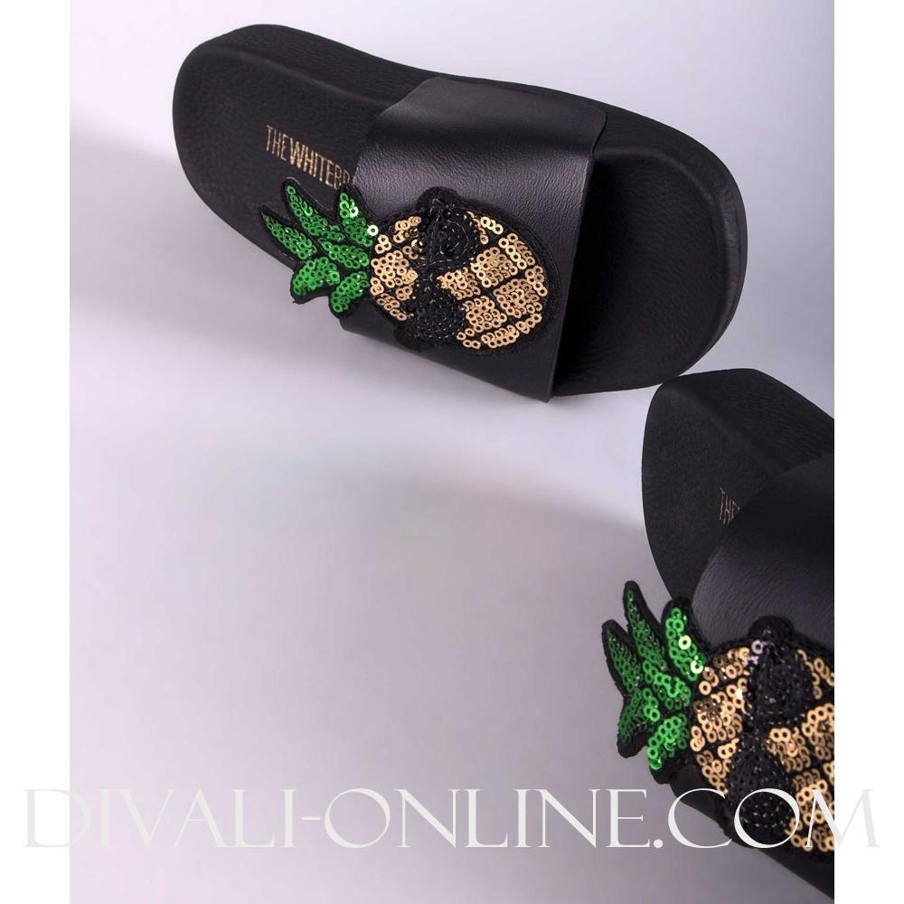 Slipper Pineapple black